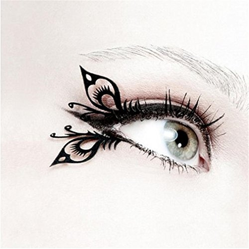HENGSONG 1 Paar Party Augen Make-up Tattoo Spitze -