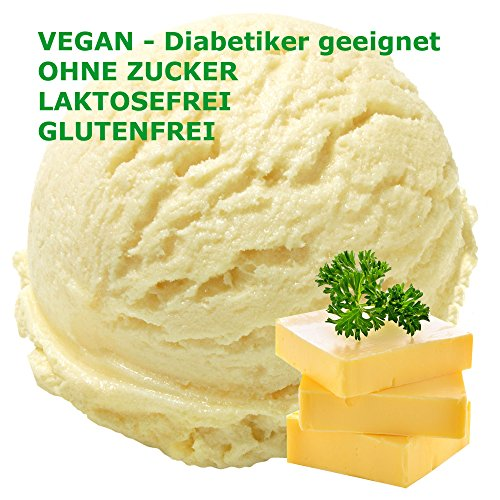 Hanf-butter (Butter Geschmack Eispulver VEGAN - OHNE ZUCKER - LAKTOSEFREI - GLUTENFREI - FETTARM, auch für Diabetiker Milcheis Softeispulver Speiseeispulver Gino Gelati (Butter, 1 kg))