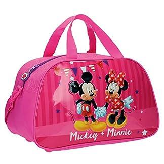 Disney Mickey & Minnie Party Bolsa de Viaje, 22.63 Litros, Color Rosa