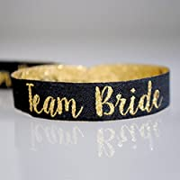 Team Bride Black & Gold Hen Party Wristbands ~ Hen Party Favours