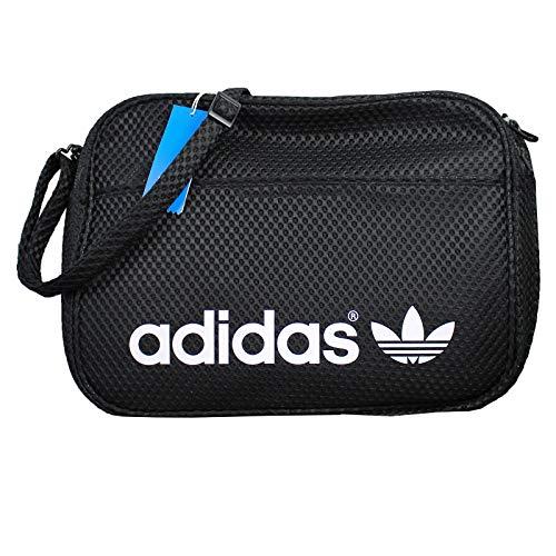 adidas Originals Airline Bag Messenger Tasche Umhängetasche Schwarz Woven AJ8131, Farbe:Schwarz, Größe:One - Adidas Bag Airline