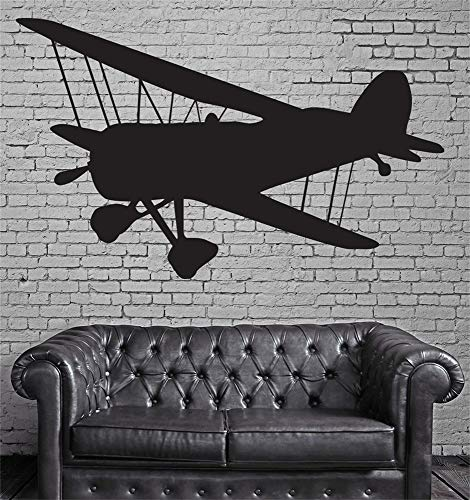 Vinyl Quotes Wall Art Tattoos Words Saying Removable Letters Vintage Airplane Propeller Two Biplane Wings