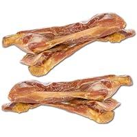 Huesos de jamón de Italia, al menos35 g aprox.15-18 cm de hueso de jamón masticable con mucha carne, 14 meses secado al aire en envase al vacío. Un producto Dogreform sin aditivos de huesos de perro.
