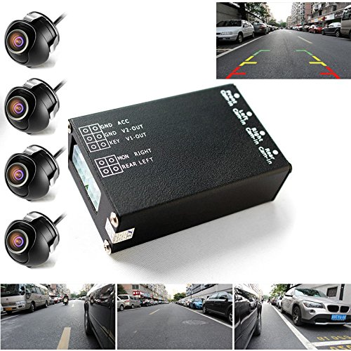 View-kamera-auto (PolarLander 4PCS 360 View-Auto-Kamera Control Box 4-Wege-Kameras Switch-System hintere Ansicht UP Kameras für hinten Links rechts Größe Frontkamera)