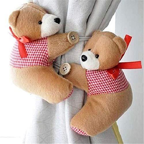 meizu881par de alzapaños para cortina, diseño de osos, para cortina de habitación de niños, tela, Style 2, talla única