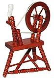 alles-meine.de GmbH Miniatur - Spinnrad & Spindel - aus dunklem Natur Holz lackiert für Puppenstube