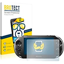 2x BROTECT HD-Clear Displayschutzfolie Sony PCH-2000-Serie PlayStation PS Vita Slim Touchpad Schutzfolie Folie - Klar, Anti-Fingerprint