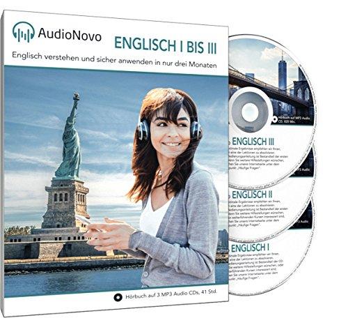 AudioNovo Englisch I, II und III - Englisch lernen für Anfänger und Fortgeschrittene (Audio-Sprachkurs) Sprachen Lernen Software