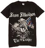 Rock Off Men's Iron Maiden Sketched Trooper Regular Fit Round Collar Short Sleeve T-Shirt