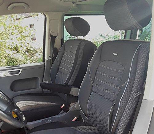 T6Elite Coprisedili per sedile del conducente e sedile passeggero con scatola di 4braccioli