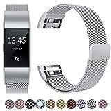 Fanceeast magnetisches Band für Fitbit Charge 2, aus Edelstahl, Ersatzarmband, Accessoire für Fitbit Charge 2, Armband