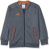 Adidas CF4333 Chaqueta, Unisex Niños, (Onix/Naranja), 140 (9/10 años)
