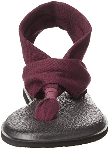 Sanuk Damen Yoga Sling#2 Prints Zehentrenner Burgundy