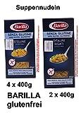 Barilla Sortiment 4 x Stelline - 2 X Ditalini Rigati je 400g = 2400g Glutenfrei