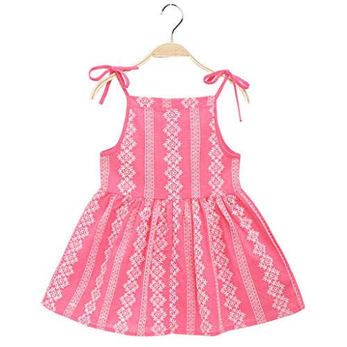 7555b997010da feiXIANG Robes Fille Cartoon Floral Princesse Casual Enfant d Été sans  Manche Florale Princesse Tutu