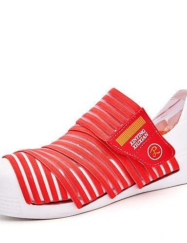 Shangyi Gyht Chaussures Femme-baskets / Mocassins À La Mode / Sans Lacets-loisirs / Formel / Décontracté-confortable-flat-tulle / Microfibre-bleu / Kaki Marron