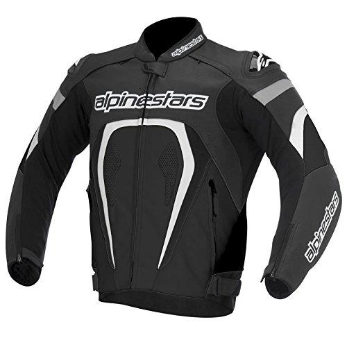Alpinestars Motegi Motorradlederjacke, Farbe schwarz-weiss, Größe 54