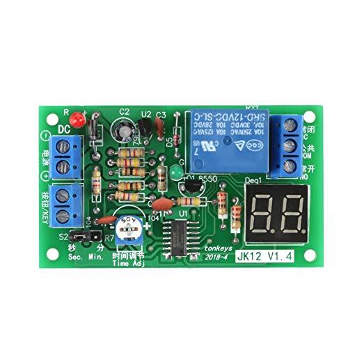 DC 12V M/ódulo de Rel/é de Retrado M/ódulo de Temporizador de Retrado 0-25 Segundos Rel/é de Temporizador Ajustable Turn On//Turn Off M/ódulo con Optoacopladores Isolator