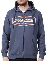 Sudadera con cremallera Jesse James Beefy Logo Azuloscuro