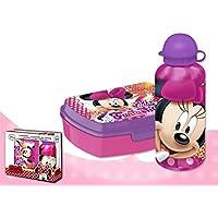 Preisvergleich für Disney Minnie Maus Brotdose und Aluminium Trinkflasche Set Minnie Fantastic