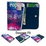 ZeWoo PU Leder Brieftasche für Doogee F3 (5.1 Zoll) Tasche