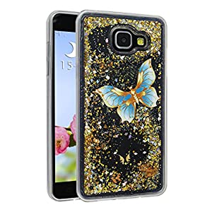 Coque Samsung Galaxy A5 2016 Liquide Sables Mouvants, Moon mood® 3D Case Fashion Étui Samsung Galaxy A5 SM-A510F Silicone Coque de Protection Samsung Galaxy A5 Transparent Crystal Clair Souple TPU Soft Quicksand Shell Scratch-Proof Cas de Téléphone Affaire Flowing Brillante Étoile Housse Bumper Cover pour Samsung A510 5.2 pouces(No pour Samsung Galaxy A5 2015/A5 2017)