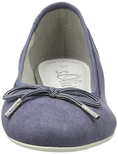 s.Oliver Damen 22121 Geschlossene Ballerinas Blau (NAVY 805)
