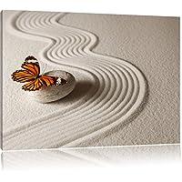 Zen Farfalla, Formato: 80x60 su tela, XXL enormi immagini completamente Pagina con la barella, stampa d'arte sul murale con telaio, più economico di pittura o un dipinto a olio, non un manifesto o un banner,