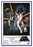 Close Up Star Wars Poster Style 'C' - American (94x63,5 cm) gerahmt in: Rahmen blau