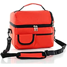 Moda bolsa de la caja de almuerzo , Bolso más fresco , Loncheras , bolsa de 2 capas , Almacenar Leche Alimentos y Medicina