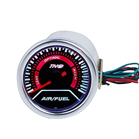 "THG Universal- Fit Neue 2 "" Super Bright White Digital LED -Automobil-Auto Auto Motor Mechanical Air Fuel Gauge"