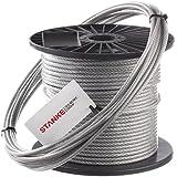 200m PVC Câble en acier 4mm 6x7 acier câble corde de foresterie DIN fil d'acier galvanisé avec revêtement en polymère