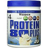 Weider, 80 Plus Protein, Kokosnuss, 1er Pack (1x 750g)