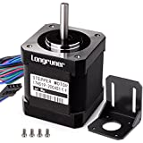 Stepper Motor, Longruner 3 Packs Nema 17 Stepper Motor 1.7A 0.59 Nm 84oz.in 48mm Body w/ 1m Cable & Connector for 3D Printer/CNC with Motor Mounting Bracket and 36mm M3 Screws LQD03