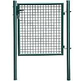 Yahee Gartenpforte Gartentür Gartentor Hoftor Zauntür Wellengitter Zaun Tür Tor 100 x 87 cm