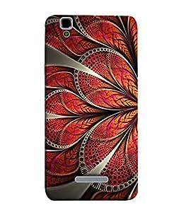 PrintVisa Designer Back Case Cover for YU Yureka Plus :: Yu Yureka PlusYU5510A (Classy Rangoli Design In Red Colour)