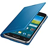 Samsung Flip Wallet Hülle Case Cover für Samsung Galaxy S5 Mini Punching Pattern - Electric Blau
