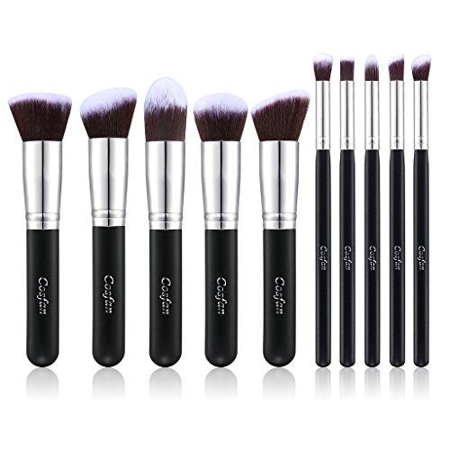 10PCS Pinceaux de Maquillage professionnel Pro HQ ensemble des pinceaux mélange Correcteur de fard à paupières Fondation des sourcils poudre d'ombre Trousse des Outils Cosmétiques cosmetic