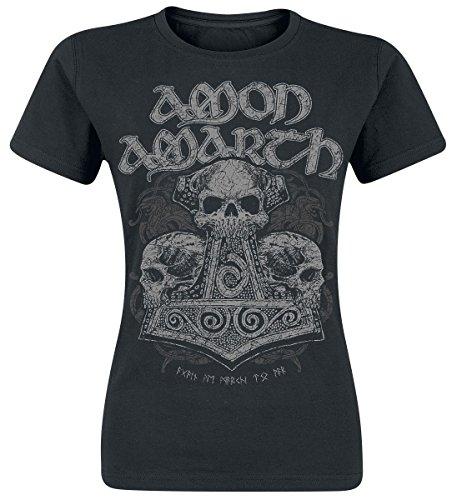 Amon Amarth Skull Hammer Maglia donna nero S