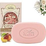 Französisches Vintage Sanfte Stückseife mit Bio ölen Rose - Un Air d'Antan Exclusiv Parfum : Rose, Pfirsich und Patschuli. Effektiv Reinigend, Zarte Duftnote – 100g Seife