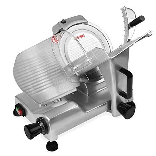 Vertes 300 mm Affittatrice elettrica professionale (Spessore di taglio: 0,2 – 15 mm, Dispositivo di affilatura integrato, Lama in Acciaio Inox)
