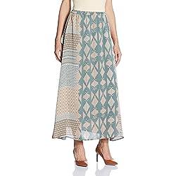 VERO MODA Women's A-Line Skirt (10164125_Balsam Green_S)