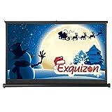 """ExquizOn - 50"""" Mini Schermo da Proiezione Retrattile Manuale da Tavolo per Film HD (Schermo per Proiettore, Adatto per le Presentazioni Home Cinema Indoor Outdoor)"""