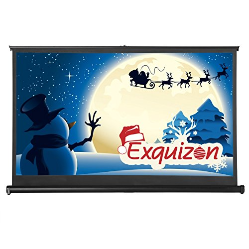 ExquizOn - Beamer Leinwand Mobile Tischleinwand 50 Zoll HD Rahmenleinwand Schneller Auf- und Abbau 16: 9 Heimkino Klassenzimmer Geschäfts Unterwegs