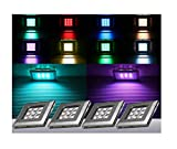 RGB LED Unterbauleuchten / Art. 2118-4 / 4-er Set mit Trafo Steuerung und Fernbedienung / Lichtfarbe Rot Grün Blau / Vitrinenbeleuchtung / Möbelbeleuchtung / Regalbeleuchtung