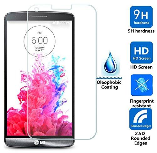 DolDer/Nillkin LG G3 Display Schutzglas 9H*2.5D Round Edge aus echtem GLAS für LG G3 - Displayschutz - Screen Protector aus Glas - kratzfest und extrem widerstandsfähig - INDEX 9H Härte, 2.5D Round Edge, nur 0.3mm. Amazing H+