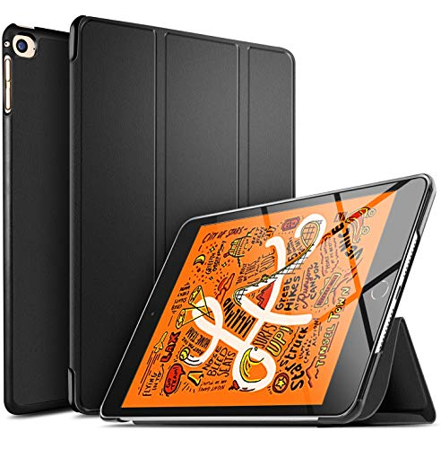 ELTD Hülle für iPad Mini 5 2019,Ultra Lightweight Flip mit Ständer & Eingebautem Magnet Hochwertiges PU Leder Schutzhülle für Apple iPad Mini 5 / Mini 4 7.9 Zoll [Schwarz]