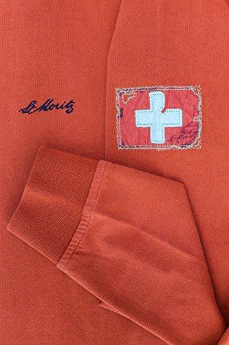 St Moritz Polosweat Herren Langarm Rotbraun