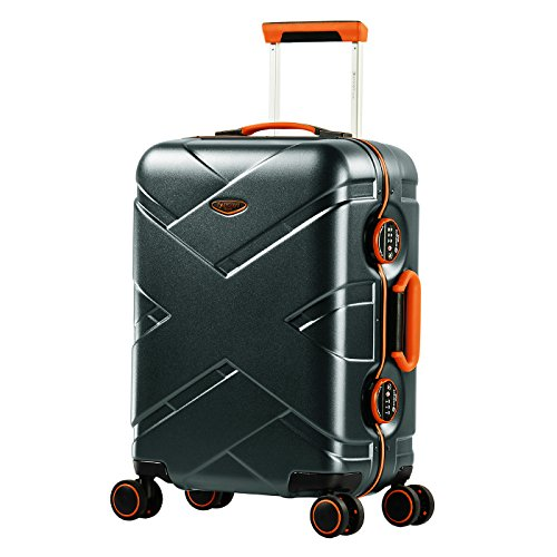 Supply Travel Tale 18 Cabin Suitcase Hand Luggage Koffer Abs Aluminium Frame Laptop Trolley Case Busy Board Elegant Shape Luggage & Bags Carry-ons