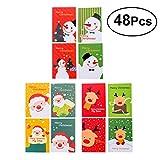 STOBOK Mini-Notizblöcke, Weihnachtsgeschenk, für Kinder, Erwachsene, Weihnachtsgeschenke, Party-Geschenke, 48 Stück